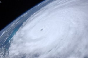 Image of Hurricane Irene from space
