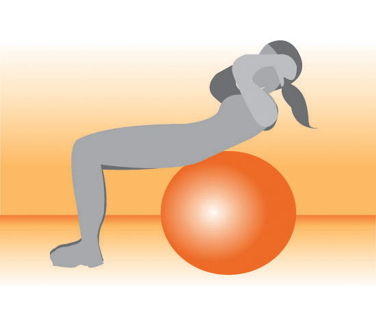 Upper Abs Crunches Exercise Ball